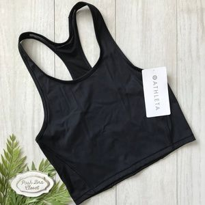 ATHLETA Lightning Sonic Crop Tank XS NWT Black